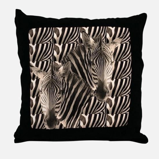 Optial Illusion Zebra Throw Pillow