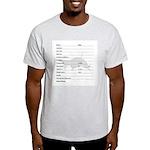 Log Book Entry Ash Grey T-Shirt