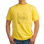 Log Book Entry Yellow T-Shirt