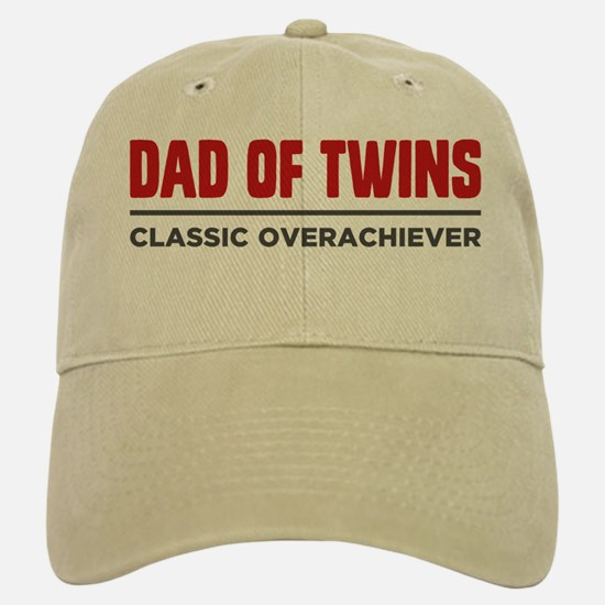 DAD OF TWINS Classic Overachiever Baseball Baseball Baseball Cap