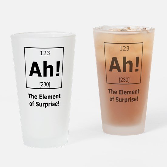 Ah! The element of surprise! Drinking Glass