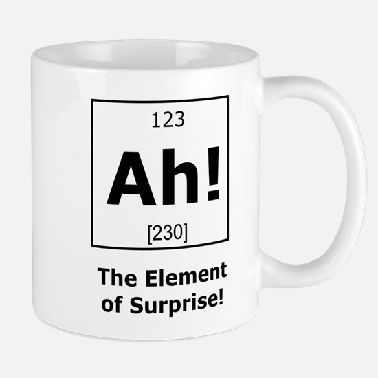Ah! The element of surprise! Mugs