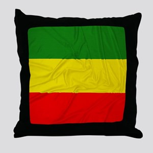 Rasta Flag Throw Pillow