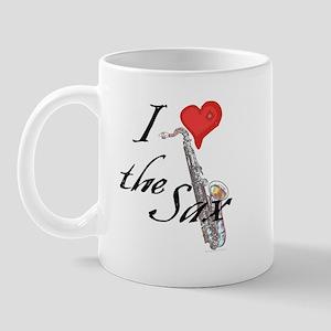 I heart the Sax Mug