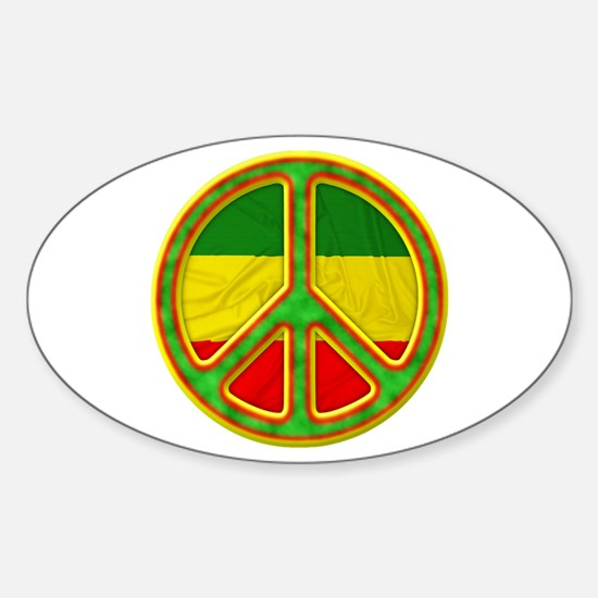 Rasta Peace Decal