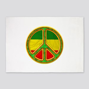 Rasta Peace 5'x7'Area Rug