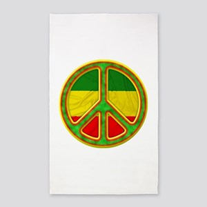 Rasta Peace 3'x5' Area Rug