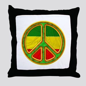 Rasta Peace Throw Pillow