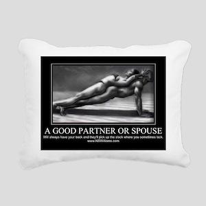 A good partner or spouse Rectangular Canvas Pillow