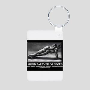 A good partner or spouse Aluminum Photo Keychain