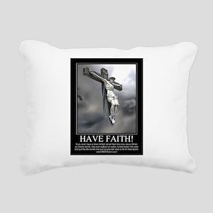 Have Faith Rectangular Canvas Pillow