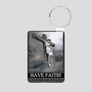 Have Faith Aluminum Photo Keychain