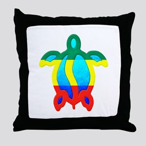 Rasta Honu Throw Pillow