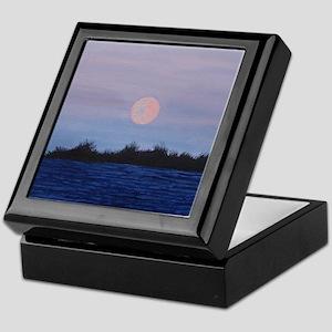 Moonrise at the Lake Keepsake Box