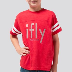 ifly pink white Youth Football Shirt