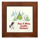 CKCS Christmas Framed Tile