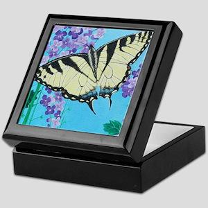 Yellow Swallowtail Keepsake Box