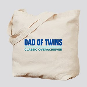 DAD OF TWINS Classic Overachiever Tote Bag