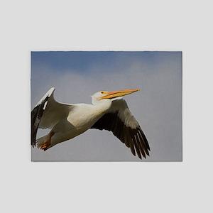 White Pelican Departure 5'x7'Area Rug