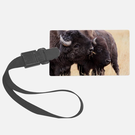 bison friendship Luggage Tag