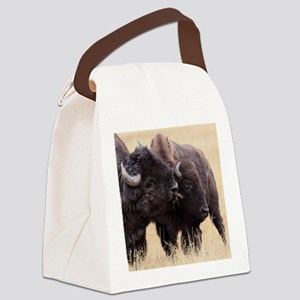 bison friendship Canvas Lunch Bag