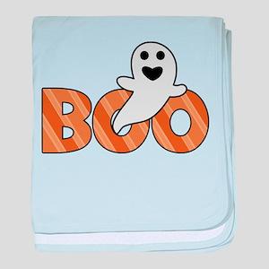 BOO Spooky Halloween Casper baby blanket