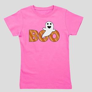 BOO Spooky Halloween Casper Girl's Tee
