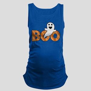 BOO Spooky Halloween Casper Maternity Tank Top