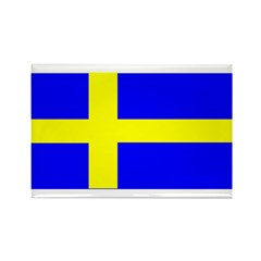 Sweden Blank Flag Rectangle Magnet