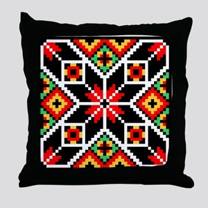 Folk Design 2 Throw Pillow