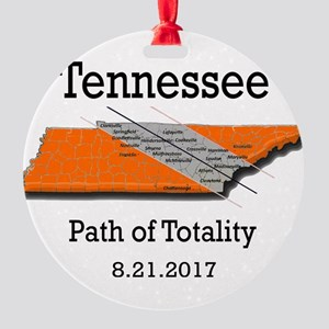 solar eclipse tennessee Round Ornament