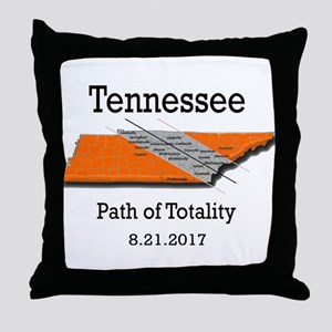 solar eclipse tennessee Throw Pillow