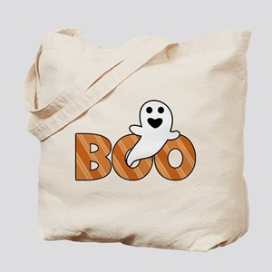 BOO Spooky Halloween Casper Tote Bag