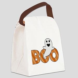 BOO Spooky Halloween Casper Canvas Lunch Bag