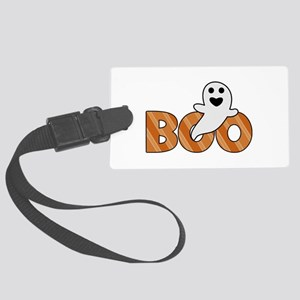 BOO Spooky Halloween Casper Large Luggage Tag