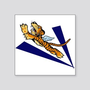 "The Flying Tigers Square Sticker 3"" x 3"""
