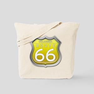 Oklahoma Route 66 - Yellow Tote Bag
