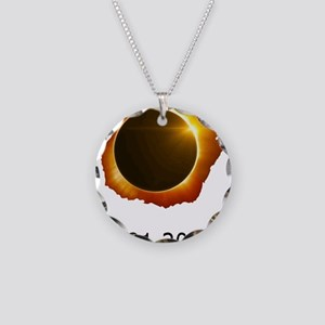total eclipse Necklace Circle Charm