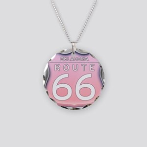 Oklahoma Route 66 - Pink Necklace