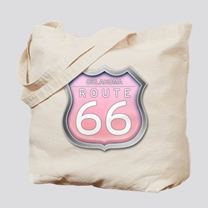 Oklahoma Route 66 - Pink Tote Bag