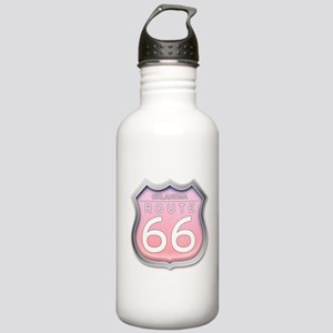 Oklahoma Route 66 - Pink Water Bottle