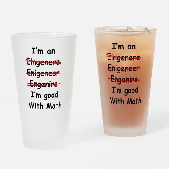 Im good with math Drinking Glass