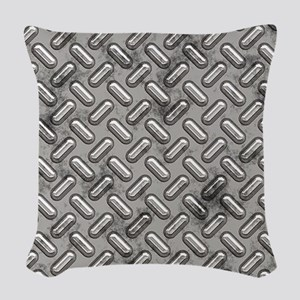 Diamond Plate Woven Throw Pillow
