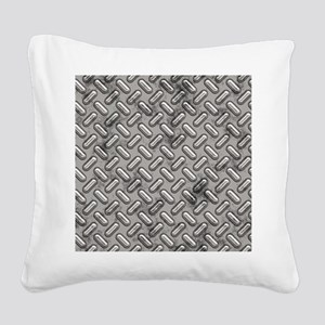 Diamond Plate Square Canvas Pillow