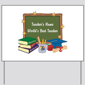 Personalized Teacher Yard Sign