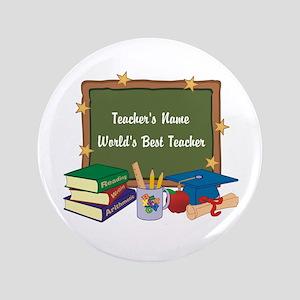 "Personalized Teacher 3.5"" Button"