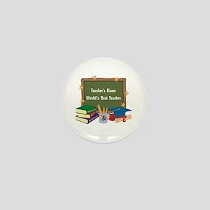 Personalized Teacher Mini Button