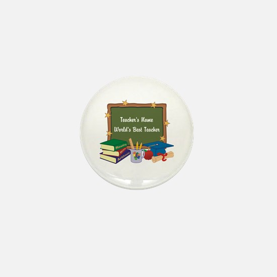 Personalized Teacher Mini Button
