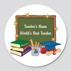 Personalized Teacher Round Car Magnet