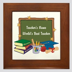 Personalized Teacher Framed Tile